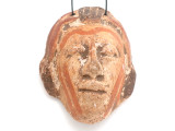 Mayan Carved Clay Mask Pendant (GUA490)