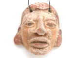 Mayan Carved Clay Mask Pendant (GUA491)