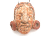 Mayan Carved Clay Mask Pendant (GUA493)