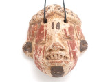 Mayan Carved Clay Mask Pendant (GUA494)