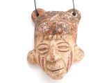 Mayan Carved Clay Mask Pendant (GUA495)