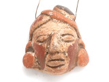 Mayan Carved Clay Mask Pendant (GUA496)