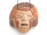 Mayan Carved Clay Mask Pendant (GUA497)
