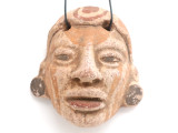 Mayan Carved Clay Mask Pendant (GUA498)