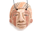 Mayan Carved Clay Mask Pendant (GUA500)