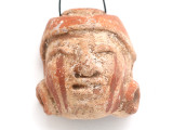 Mayan Carved Clay Mask Pendant (GUA501)