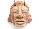 Mayan Carved Clay Mask Pendant (GUA502)