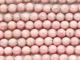 Rhodonite Round Gemstone Beads 6mm (GS5058)