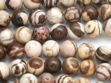 Brown Zebra Jasper Round Gemstone Beads 10mm (GS5067)