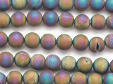 Matte Jeweltone Electroplated Agate Round Gemstone Beads 9mm (GS5070)