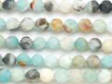 Black Gold Amazonite Star Cut Round Gemstone Beads 8mm (GS5072)