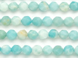 Amazonite Star Cut Round Gemstone Beads 8mm (GS5073)