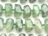 Prehnite Faceted Nugget Gemstone Beads 20mm (GS5075)