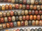 Red Creek Jasper Rondelle Gemstone Beads 8mm (GS5082)