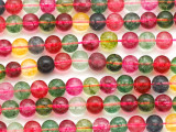 Multi-Color Quartz Round Gemstone Beads 6mm (GS5084)