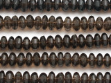 Smoky Quartz Faceted Saucer Gemstone Beads 7mm (GS5087)