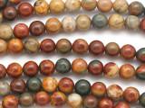 Red Creek Jasper Round Gemstone Beads 7mm (GS5090)