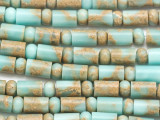 Aqua Terra Tube & Rondelle Gemstone Beads 6-10mm (GS5094)