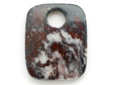 Black & Red Jasper Gemstone Pendant 51mm (GSP2943)
