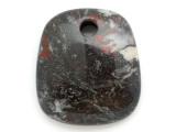 Black & Red Jasper Gemstone Pendant 50mm (GSP2947)
