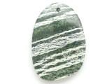 Green Silver Line Jasper Gemstone Pendant 51mm (GSP2951)