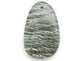 Green Silver Line Jasper Gemstone Pendant 55mm (GSP2952)