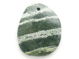 Green Silver Line Jasper Gemstone Pendant 47mm (GSP2953)