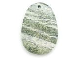 Green Silver Line Jasper Gemstone Pendant 48mm (GSP2954)