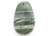 Green Silver Line Jasper Gemstone Pendant 56mm (GSP2955)