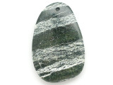 Green Silver Line Jasper Gemstone Pendant 56mm (GSP2956)