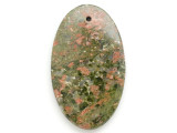 Unakite Gemstone Pendant 60mm (GSP2958)