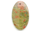 Unakite Gemstone Pendant 60mm (GSP2959)
