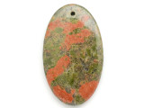 Unakite Gemstone Pendant 60mm (GSP2960)