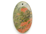 Unakite Gemstone Pendant 60mm (GSP2961)