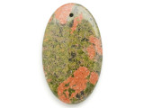 Unakite Gemstone Pendant 60mm (GSP2962)
