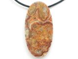 Crazy Lace Agate Gemstone Pendant 60mm (GSP2965)