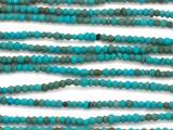 Afghan Turquoise Saucer Gemstone Beads 2-3mm (AF1001)