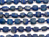 Afghan Lapis Lazuli Block Gemstone Beads 8-10mm (AF1003)