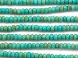Turquoise Faceted Rondelle Beads 6mm (TUR1441)