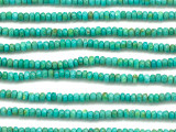 Turquoise Faceted Rondelle Beads 4mm (TUR1442)