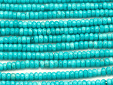 Turquoise Faceted Rondelle Beads 4mm (TUR1450)