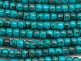 Turquoise Short Barrel Beads 8mm (TUR1451)