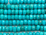 Turquoise Faceted Rondelle Beads 9mm (TUR1452)