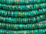 Turquoise Irregular Heishi Beads 10mm (TUR1456)