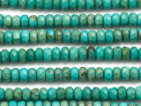 Turquoise Faceted Rondelle Beads 8mm (TUR1457)