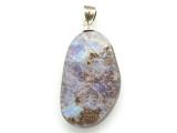 Boulder Opal Pendant w/Sterling Silver Bail 28mm (BOP377)