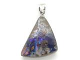 Boulder Opal Pendant w/Sterling Silver Bail 19mm (BOP379)