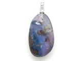 Boulder Opal Pendant w/Sterling Silver Bail 29mm (BOP380)