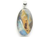 Boulder Opal Pendant w/Sterling Silver Bail 28mm (BOP381)