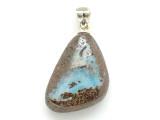 Boulder Opal Pendant w/Sterling Silver Bail 22mm (BOP388)